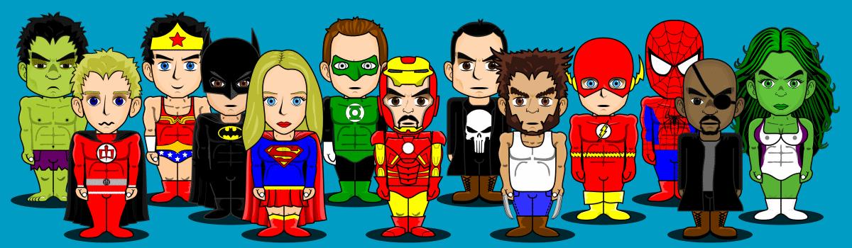Ejemplos de Avatares de Superhéroes